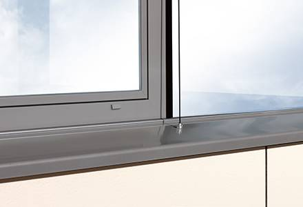 Slim designer window sill