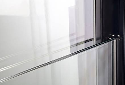 Glass parapet on terrace doors